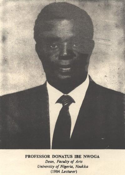 Prof. Donatus Ibe Nwoga